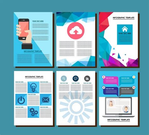 adobe illustrator brochure templates brochure design with infographic templates illustration