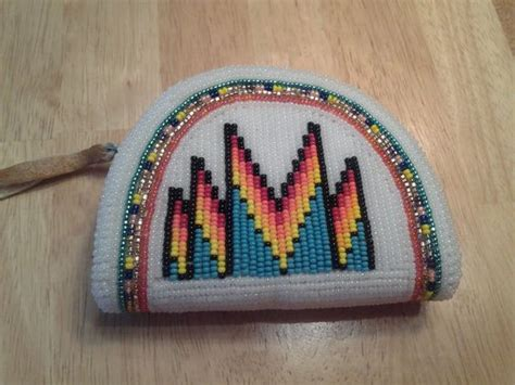 American Beaded Coin Purse With Coins Coin