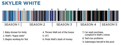 colour themes breaking bad are you a skyler white or a marie schrader what wardrobe