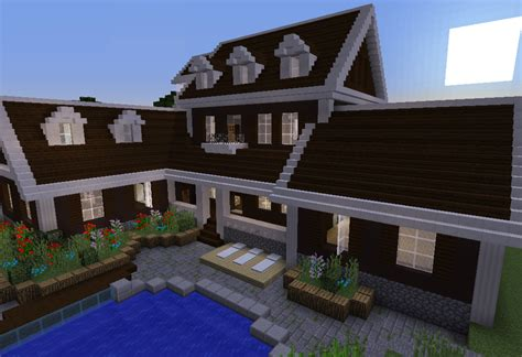 Blue Prints House by Wooden Mansion Grabcraft Your Number One Source For Minecraft Buildings Blueprints Tips