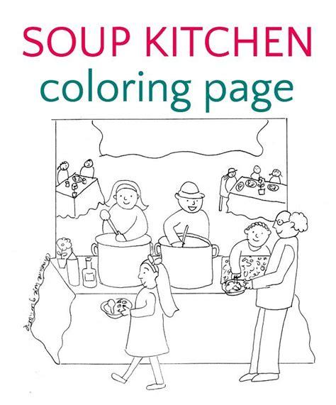 Soup Kitchen Coloring Page | soup kitchen coloring page