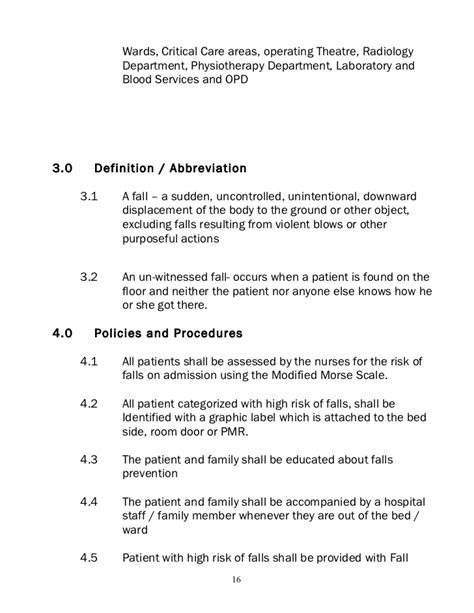operating room abbreviation policies and procedure nursing