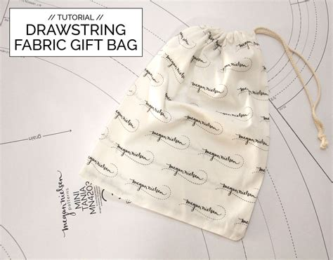 How To Make A Small Gift Bag Out Of Paper - tutorial how to make a drawstring fabric gift bag