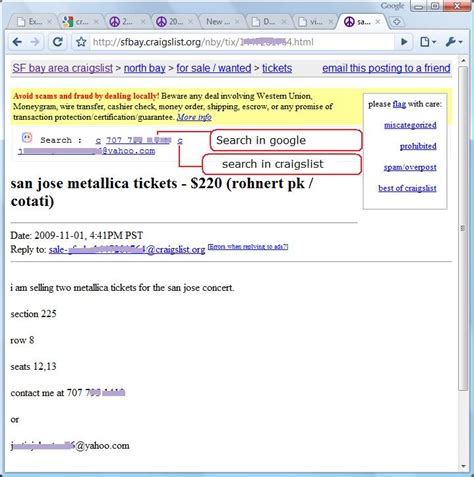 Craigslist Email Search Browser Extension Craigslist Easy Phone And Email Search