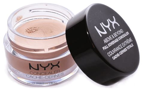 Nyx Coverage Concealer nyx above beyond coverage concealer jar review
