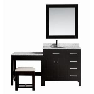 Home Depot Makeup Vanity by Design Element 36 In W X 22 In D Vanity In Espresso With Marble Vanity Top In Carrara