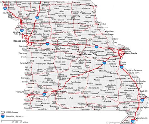 missouri map with cities and towns map of missouri cities missouri road map