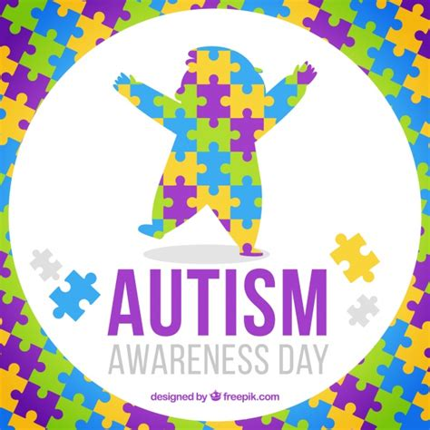 colorful puzzle pieces colorful puzzle pieces background for autism day vector