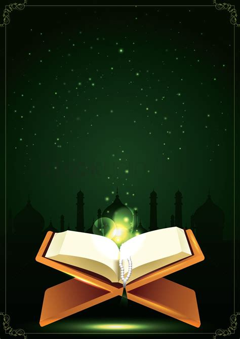 quran  prayer beads poster design vector image
