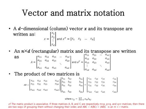 pattern recognition ict definition vector projection 187 vector projection notation free