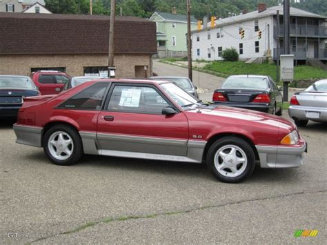 1992 mustang hatchback strawberry metallic 1992 ford mustang gt hatchback