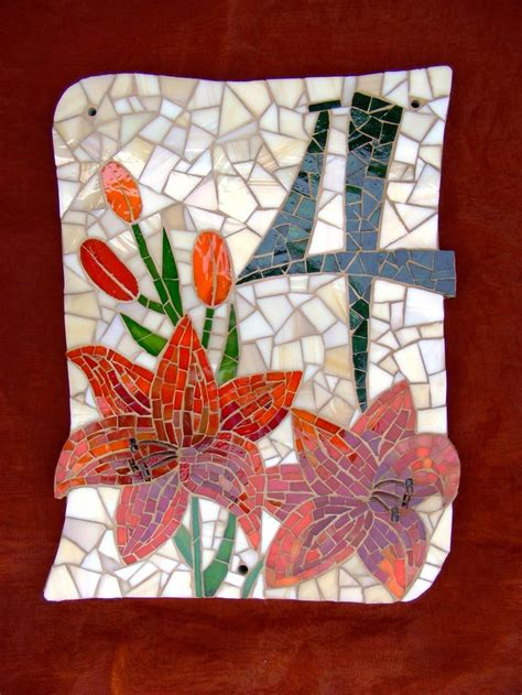 mosaic designs for house numbers 17 best images about mosaic signs on pinterest vintage drawer pulls address signs