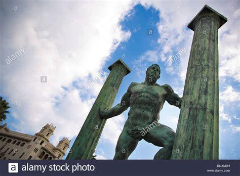 the pillars of hercules pillars of hercules bay of ceuta ceuta province of spain north stock photo royalty free