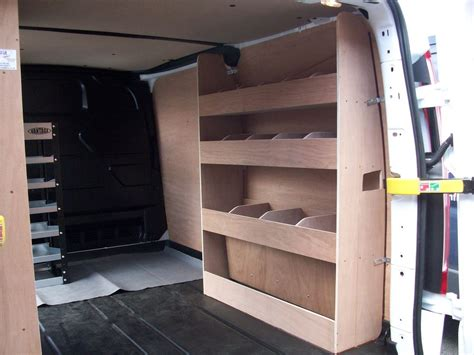 ford transit custom racking ply shelving swb storage