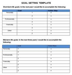 Template For Goals goal setting template 3 free word pdf document