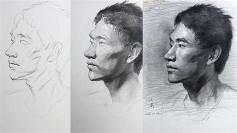 drawing in process portrait drawing tutorial process