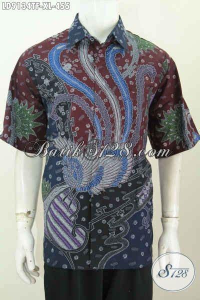 Baju Pakaian Pria Busana Kemeja Pendek Motif Batik Murah 3 busana batik halus lengan pendek motif berkelas