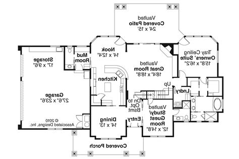 One Story Ranch Style House Plans by Craftsman House Plans Tillamook 30 519 Associated Designs