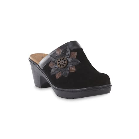 wide width clogs for thom mcan s carine black suede open back clog wide