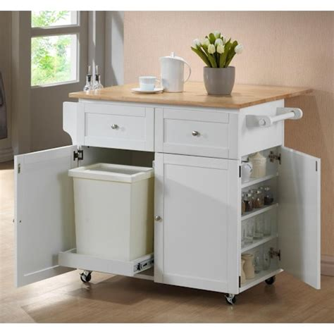 kitchen islands and carts furniture kitchen cart w leaf trash compartment spice rack kitchen carts by coaster wilcox