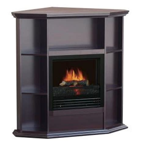 Quality Craft 36 In Corner Electric Fireplace With Corner Electric Fireplaces Home Depot