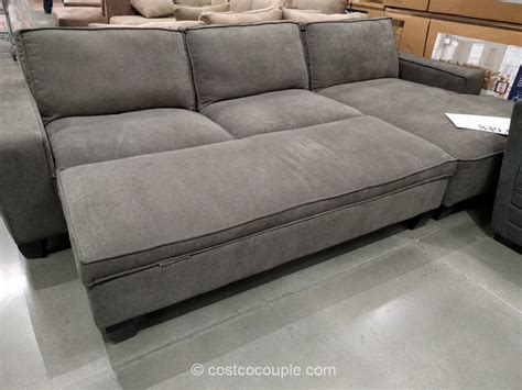 costco sleeper sofa with chaise pulaski newton chaise sofa bed
