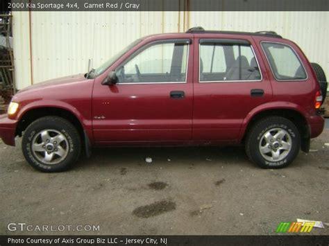 2000 Kia Sportage 4x4 Garnet 2000 Kia Sportage 4x4 Gray Interior