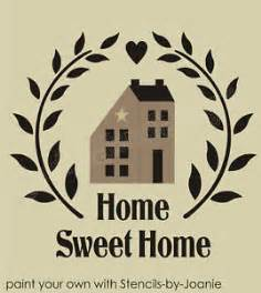 home stencil stencil folk art saltbox house sweet home country