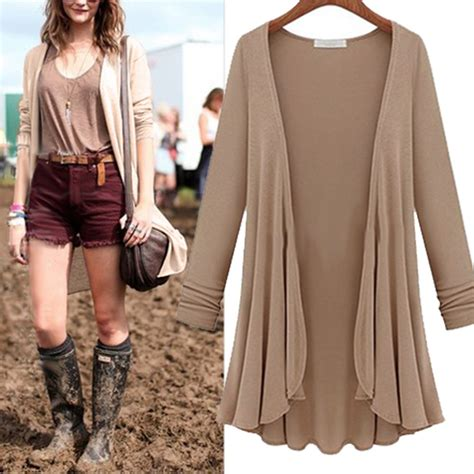 Cardigan Bigsize fashion cotton top thin blouse sleeve summer