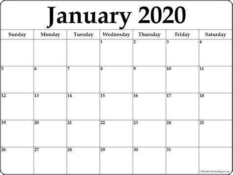 january blank calendar templates