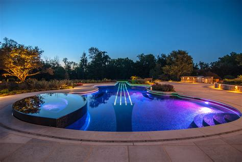 Backyard Pool Lighting Outdoor Swimming Pool Lighting Design Interior