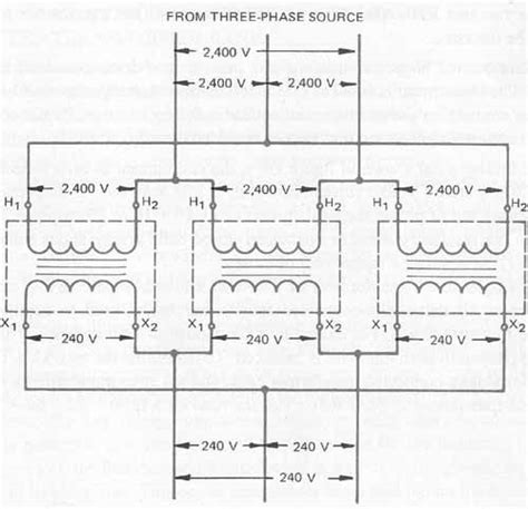 480 to 240 volt 3 phase transformer wiring diagram volt