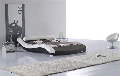 round platform bed vilenno queen size modern style round leather platform