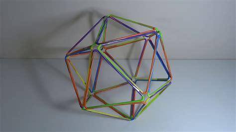 figuras geometricas hechas en cartulina como hacer figura geometrica tridimensional con pajitas