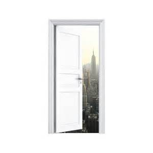 stickers trompe l oeil porte manhattan