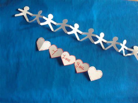 como hacer cadenas de papel picado mu 209 equitos de papel cadena humana