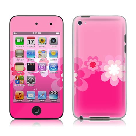 Istyles Sleeves For Ipods Iphones Or Treos by Retro Pink Flowers Ipod Touch 4th Skin Covers Ipod
