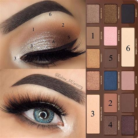 eyeshadow tutorial using too faced use of the chocolate bar too faced pinteres