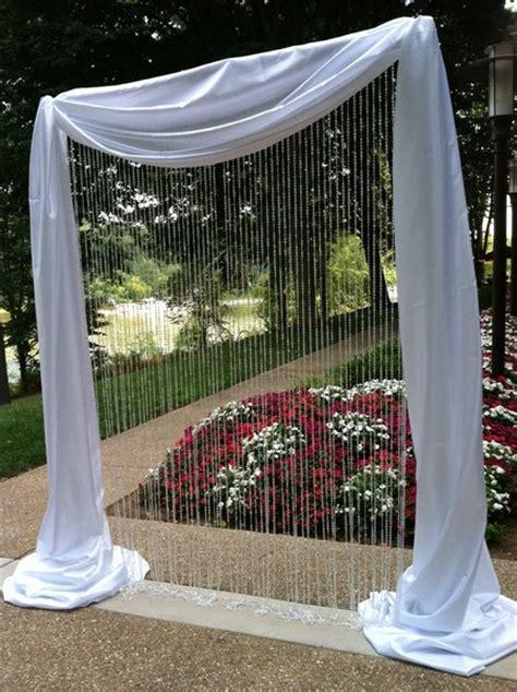 crystal curtains wedding wedding pergola arch help weddingbee