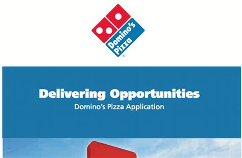 domino pizza career how to complete the record of employment form image search