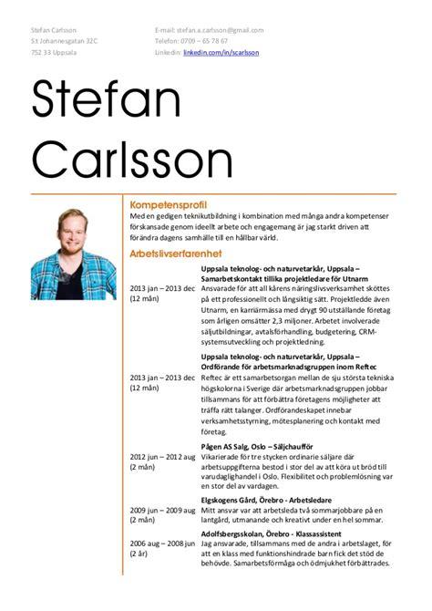 stefan carlsson cv