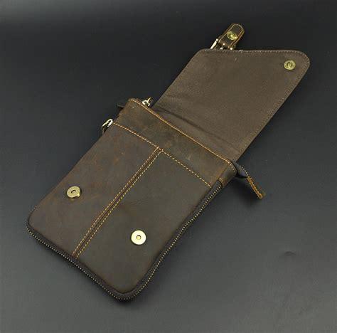 Clutch 401 Ukr 29x5x13 mens real cowhide leather sling messenger shoulder hip bum waist pack bag