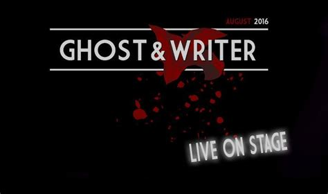 ghost writer ghost writer go live finally side line magazine