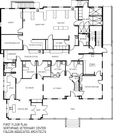 vet clinic floor plans veterinary practice home