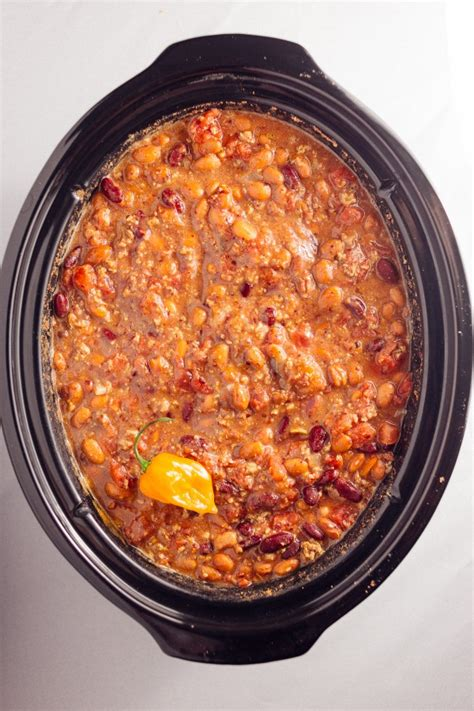 spicy turkey chili crock pot recipe spicy turkey habanero crock pot chili with a pan