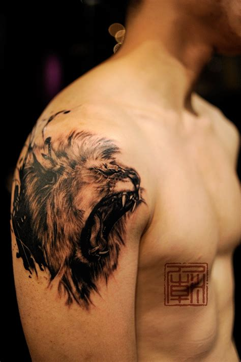 chinese temple tattoo designs absolutely gorgeous animal work by wang at temple