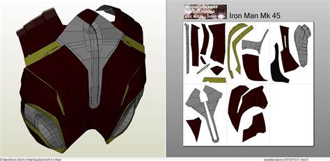 iron man mark 45 full armor foam pepakura eu