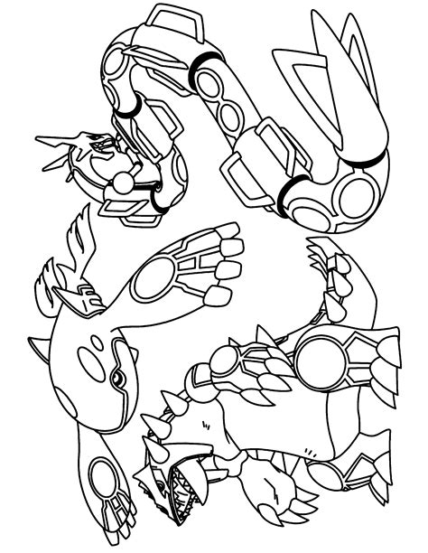 legendary pokemon coloring pages rayquaza groudon coloring pages az coloring pages