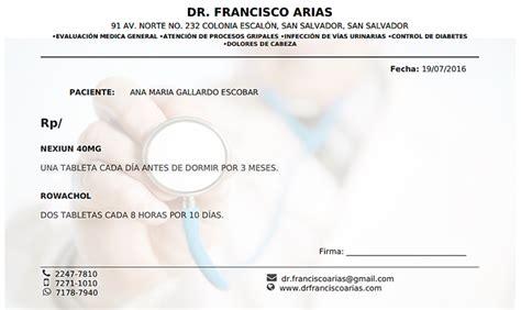 imagenes de recetas medicas en blanco sismedi