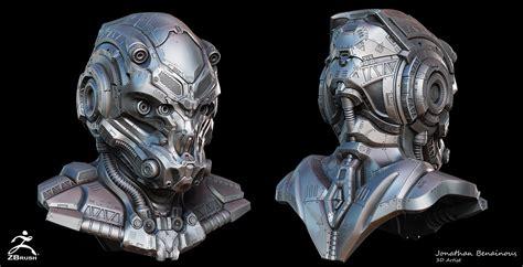helmet design zbrush sci fi helmet by jonathan benainous